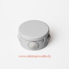 Тусо.Коробка расп. для о/п, D=80мм, Н=50мм 4ввода, IP55